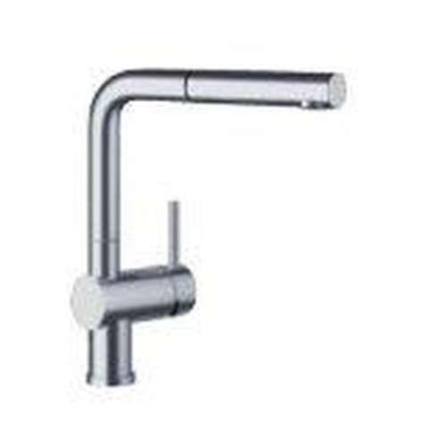 Blanco 441431 Linus Dual Spray Pull-Out Kitchen Faucet Satin Nickel
