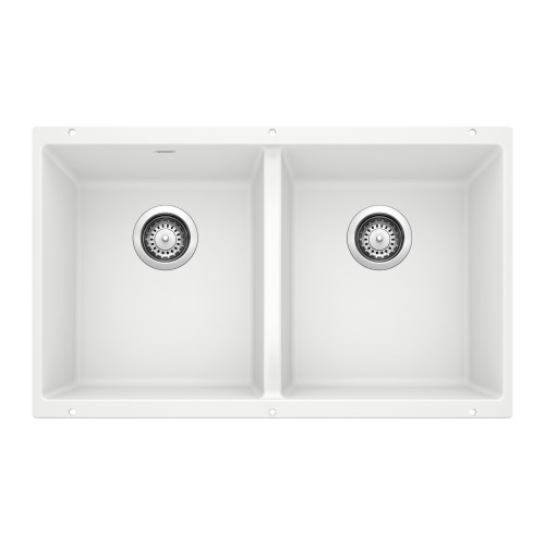 """Blanco 516321 Precis 16"""" Equal Double Bowl - Biscuit Undermount"""