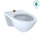 TOTO CT708U#01 Elongated Wall-Mounted Flushometer Toilet Bowl with Top Spud, Cotton White - CT708U#01