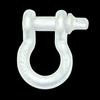 "3/4"" D-Ring Shackle Pair - White Gloss"