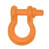 """3/4"""" D-Ring Shackle Pair - Punk'n Orange Gloss"""