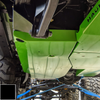 2018-Present 2-Door Wrangler Gas Tank Skid Plate - Black Gloss