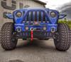 Predatör Series Sway Bar Skid - Ocean Blue Gloss Backer Plate