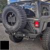 2018-Present Wrangler Predatör Series Rear Bumper w/ Tire Carrier - Black Gloss