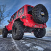 2018-Present Wrangler Predatör Series Rear Bumper w/ Tire Carrier - Firecracker Red Gloss