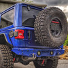 2018-Present Wrangler Predatör Series Rear Bumper w/ Tire Carrier - Ocean Blue Gloss