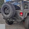 2018-Present Wrangler Predatör Series Rear Bumper w/ Tire Carrier - Billet Silver Gloss