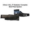 2019-Present 3.6L JT Gladiator Complete Skid System - Black Texture
