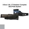 2019-Present 3.6L JT Gladiator Complete Skid System - Billet Silver Gloss