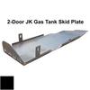 2007-2018 2-Door Wrangler Gas Tank Skid Plate - Black Texture