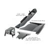 2007-2011 3.8L 2-Door Wrangler - Complete Skid Plate System - Black Gloss