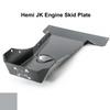2007-2018 Hemi Wrangler Engine Skid Plate - Billet Silver Gloss