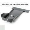 2012-2018 3.6L Pentastar Wrangler Engine Skid Plate - White Gloss
