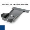2012-2018 3.6L Pentastar Wrangler Engine Skid Plate - Ocean Blue Gloss