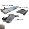 2012-2018 3.6L Pentastar 2-Door Wrangler - Complete Skid Plate System - Bare Steel