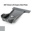 2007-2018 4BT Diesel Wrangler Engine Skid Plate - Billet Silver Gloss
