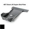 2007-2018 4BT Diesel 4-Door Wrangler - Complete Skid Plate System - Black Gloss