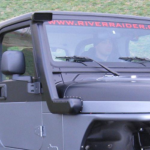 1997-2006 TJ/LJ Wrangler River Raider Aluminum Body Snorkel - Raw Aluminum