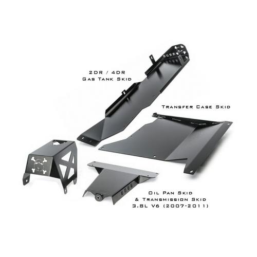 2007-2011 3.8L 2-Door Wrangler - Complete Skid Plate System