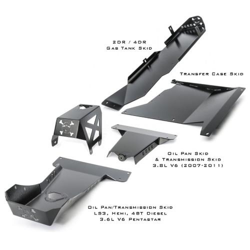2012-2018 3.6L Pentastar 4-Door Wrangler - Complete Skid Plate System