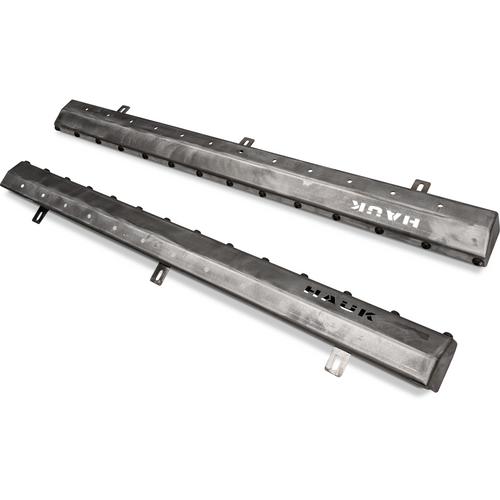 2018-Present 4-Door Wrangler Rock Sliders - Bare Steel