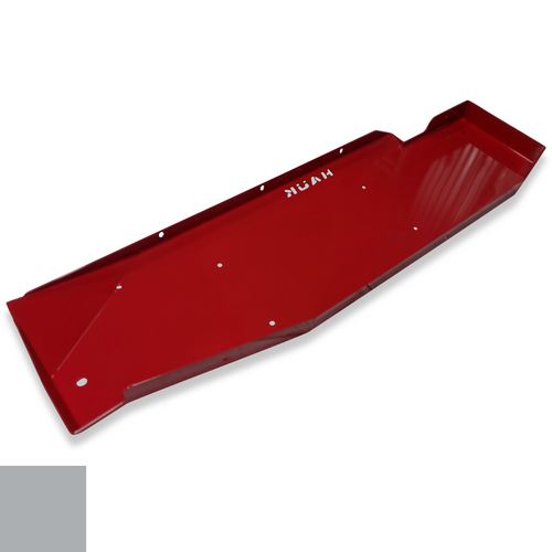 2018-Present 4-Door Wrangler Gas Tank Skid Plate - Billet Silver Gloss