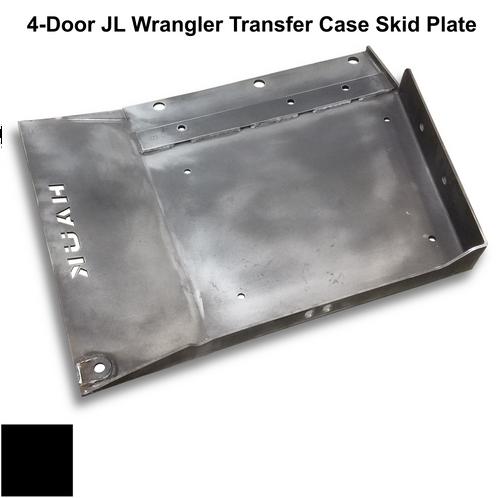 2018-Present 4-Door Wrangler/Gladiator Transfer Case Skid Plate - Black Gloss