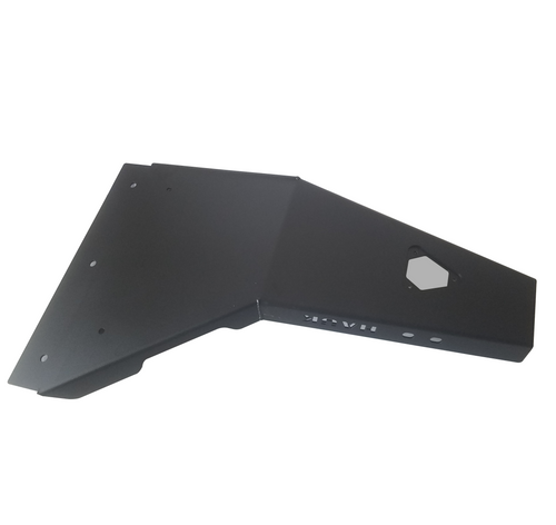 2018-Present 4-Door Wrangler/Gladiator 3.6L Engine Skid Plate - Black Gloss