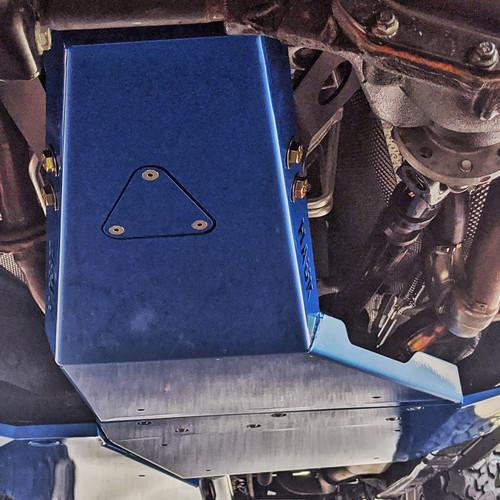2018-Present 4-Door Wrangler/Gladiator 3.6L Engine Skid Plate - Ocean Blue Gloss