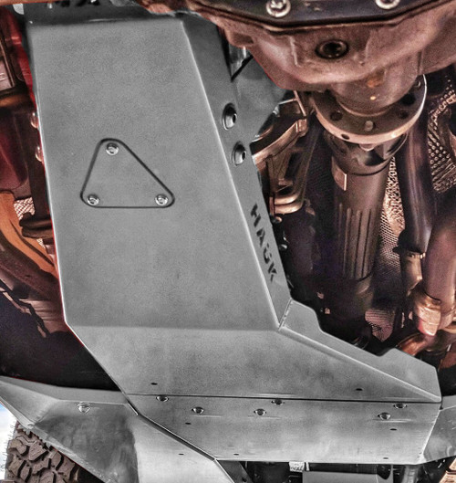 2018-Present 4-Door Wrangler/Gladiator 3.6L Engine Skid Plate - Sting Gray Gloss