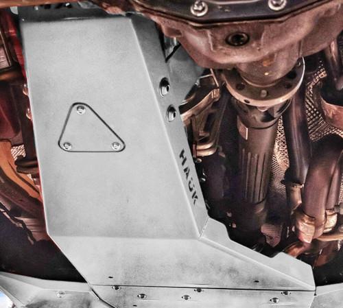 2018-Present 4-Door Wrangler/Gladiator 3.6L Engine Skid Plate - Billet Silver Gloss