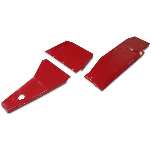2018-Present 3.6L 4-Door Wrangler Complete Skid Plate System - Firecracker Red Gloss