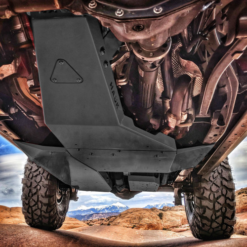 2018-Present 3.6L 4-Door Wrangler Complete Skid Plate System - Granite Crystal Gloss