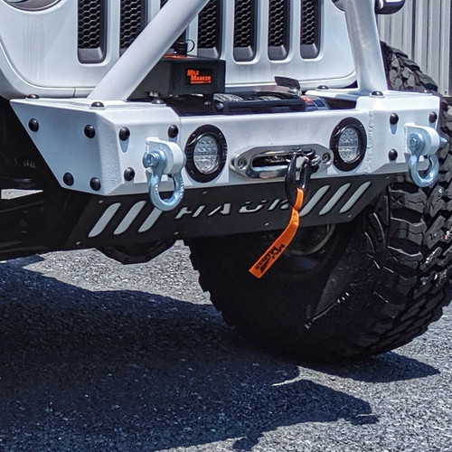 Predatör Series Sway Bar Skid Backer Plate - White Gloss