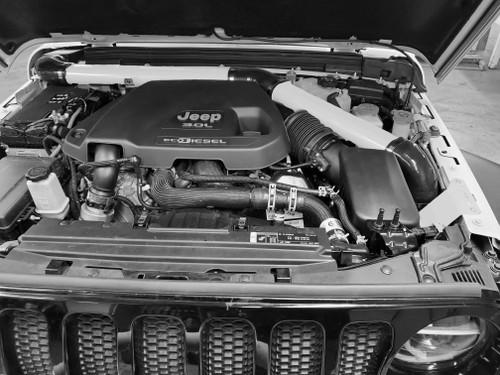 2018-Present 3.0L Turbo Diesel Wrangler/Gladiator Expedition Snorkel - White Gloss