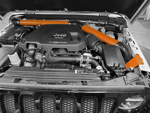 2018-Present 3.0L Turbo Diesel Wrangler/Gladiator Expedition Snorkel - Punk'n Orange Gloss