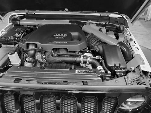 2018-Present 3.0L Turbo Diesel Wrangler/Gladiator Expedition Snorkel - Billet Silver Gloss