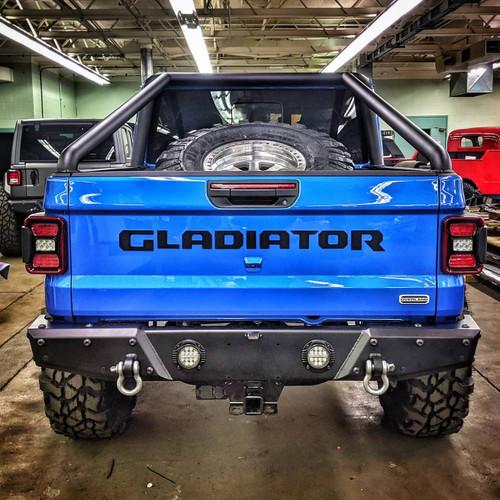 2019-Present JT Gladiator Predatör Series Rear Bumper - Black Texture