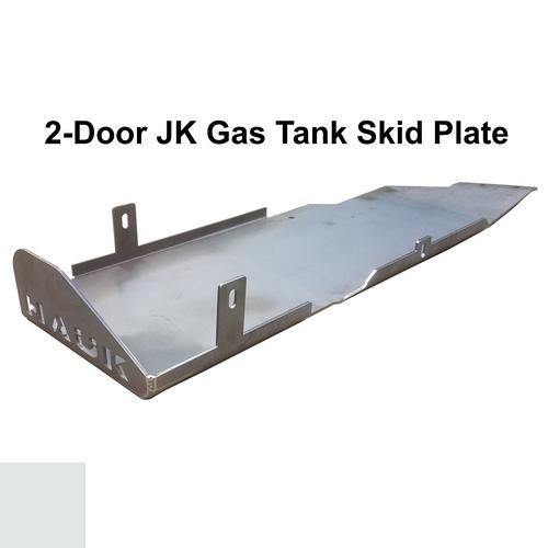 2007-2018 2-Door Wrangler Gas Tank Skid Plate - White Gloss