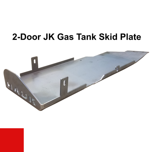 2007-2018 2-Door Wrangler Gas Tank Skid Plate - Firecracker Red Gloss