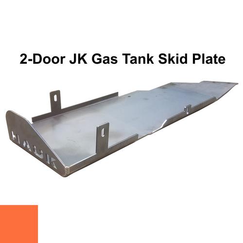 2007-2018 2-Door Wrangler Gas Tank Skid Plate - Punk'n Orange Gloss