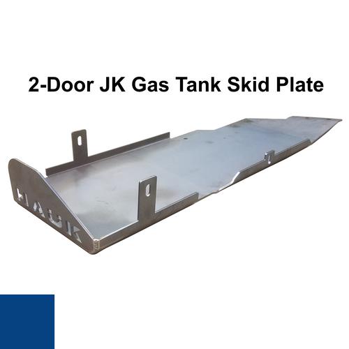 2007-2018 2-Door Wrangler Gas Tank Skid Plate - Ocean Blue Gloss
