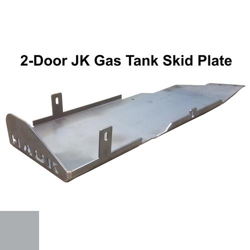 2007-2018 2-Door Wrangler Gas Tank Skid Plate - Billet Silver Gloss