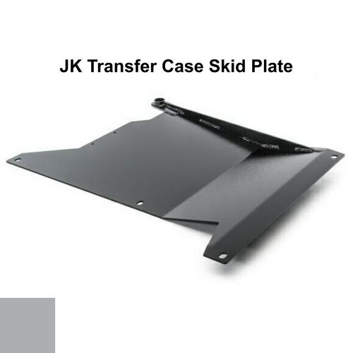 2007-2018 Wrangler Transfer Case Skid Plate - Billet Silver Gloss