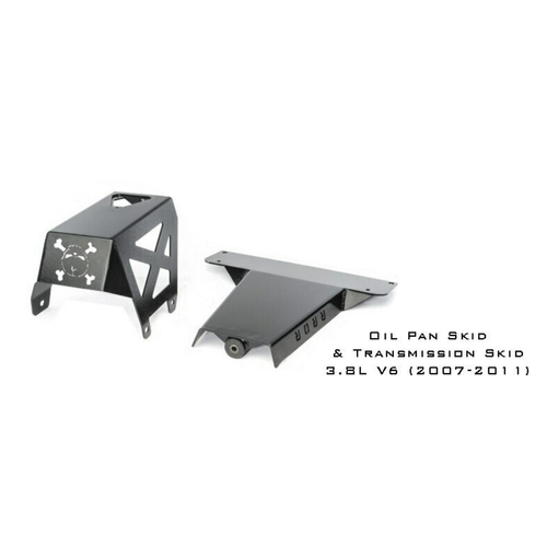 2007-2011 3.8L Wrangler Engine Skid Plate - Black Texture