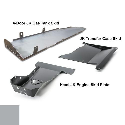2007-2018 Hemi 4-Door Wrangler - Complete Skid System - Billet Silver Gloss