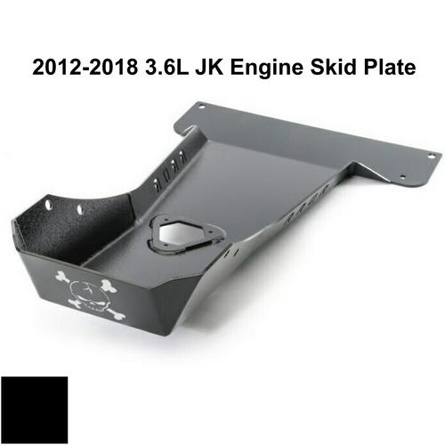 2012-2018 3.6L Pentastar Wrangler Engine Skid Plate - Black Gloss