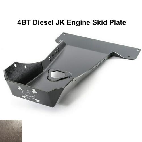 2007-2018 4BT Diesel Wrangler Engine Skid Plate - Bare Steel