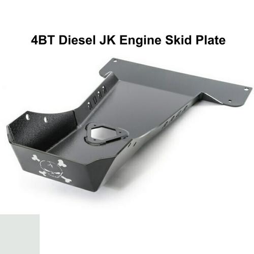 2007-2018 4BT Diesel Wrangler Engine Skid Plate - White Gloss