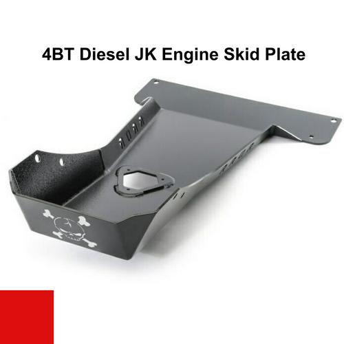 2007-2018 4BT Diesel Wrangler Engine Skid Plate - Firecracker Red Gloss